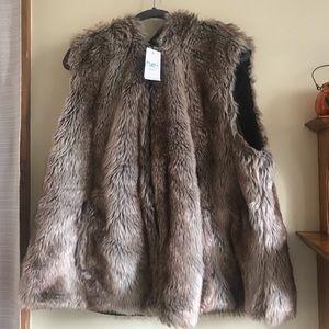 Rue21 Cozy Faux Mink Vest